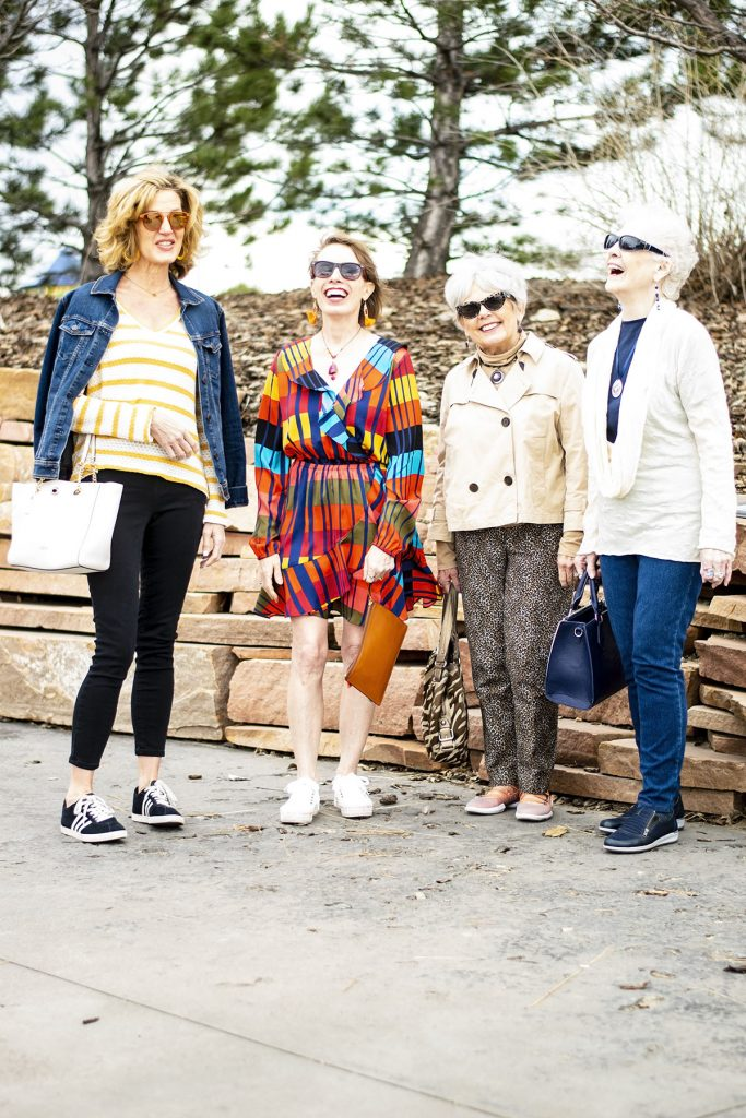 Styling sneaker outfits for 4 older women