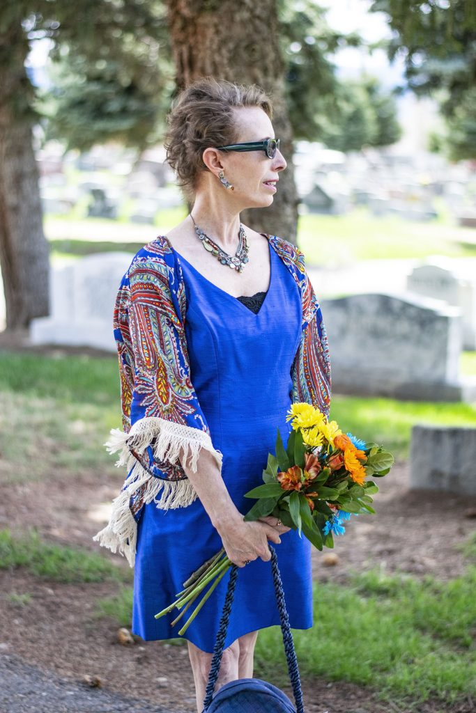 Wearing a kimono for a funeral
