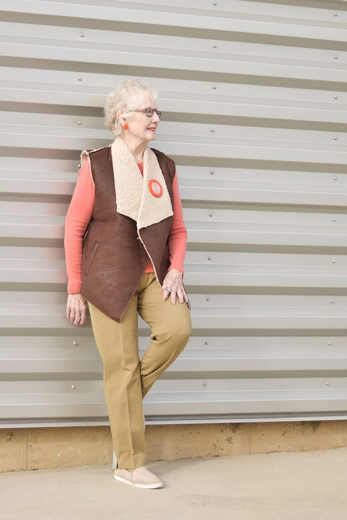 Woman wearing sneaker outfits with neutrals