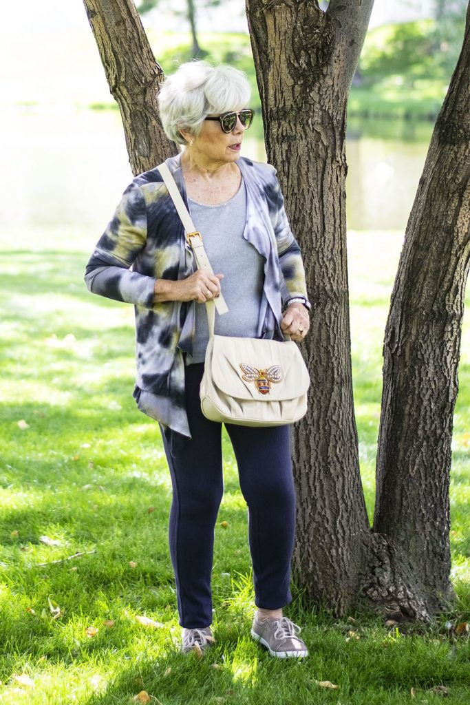 Styling sneaker outfits with leggings