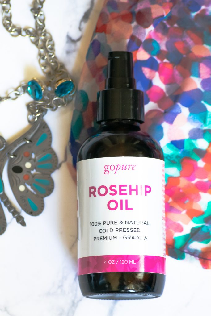 When skin is dry use rosehip oil