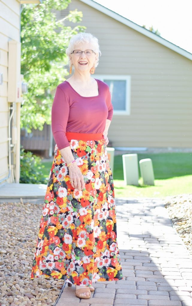 Maxi skirt as an ageless style