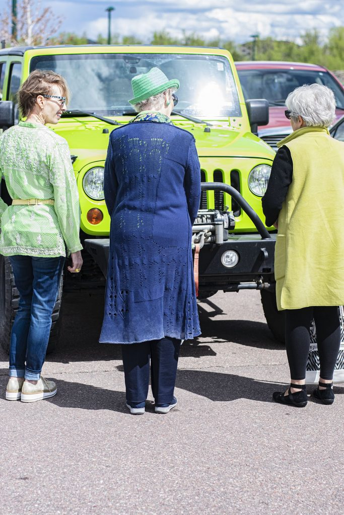 Lime green jeep for our lime green photos