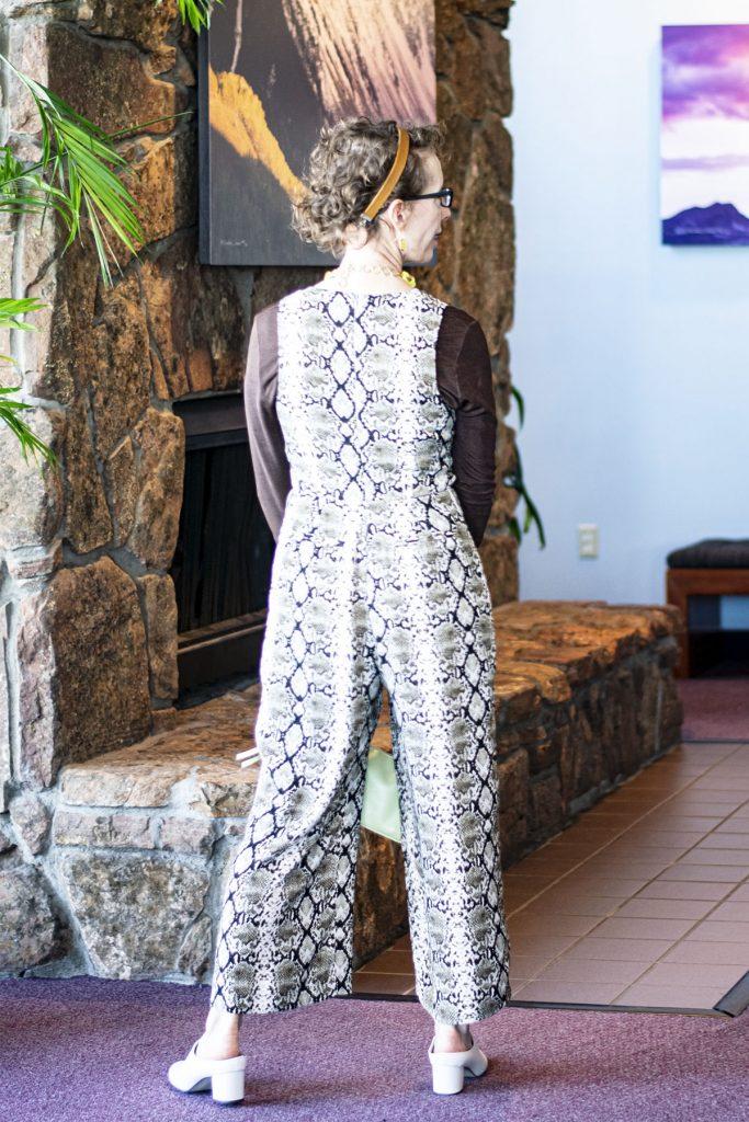 Snakeskin jumpsuit