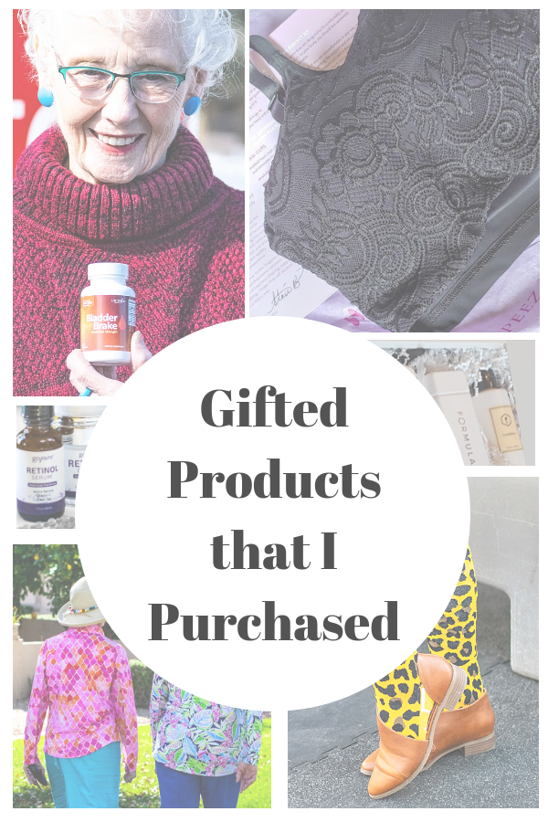 Gifted products that later I've purchased