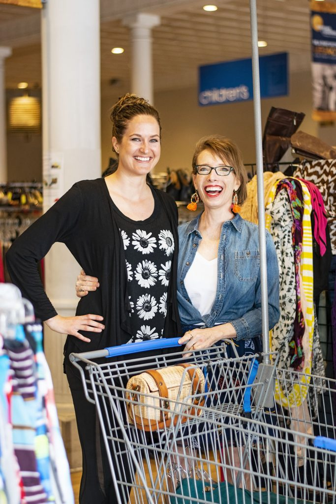 Getting ready to shop for the Goodwill Shop & Share Event