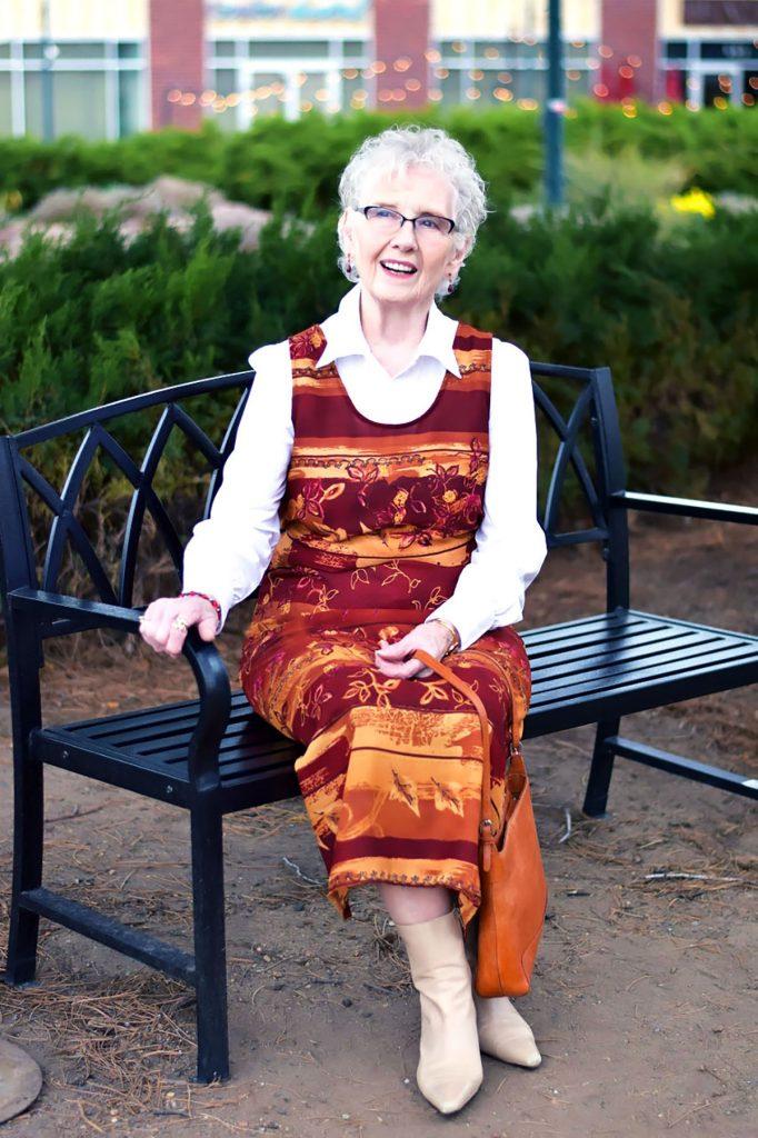 Maxi dress for older women
