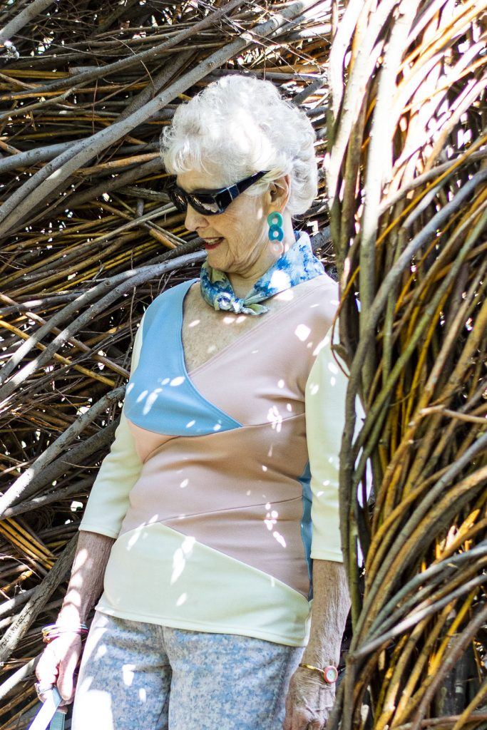 Fashion color analysis for women with white hair