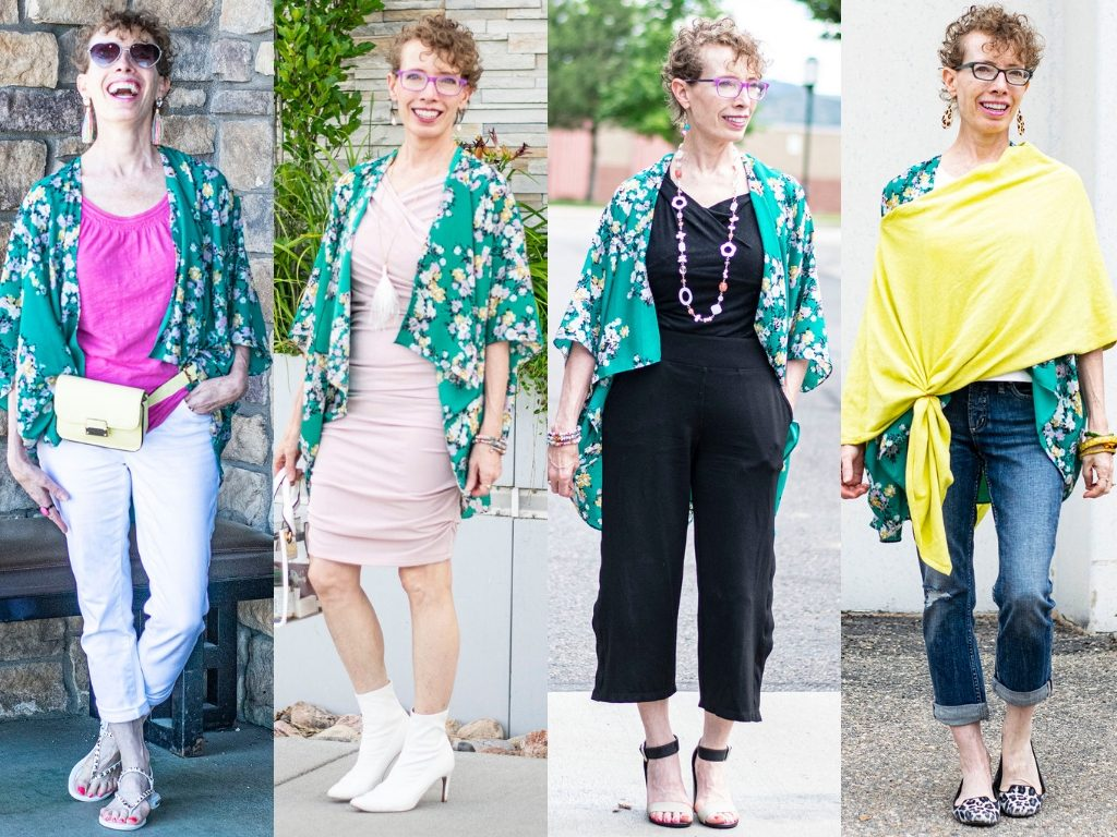 Different outfits with a kimono