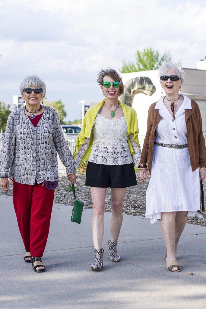 3 Women in snakeskin