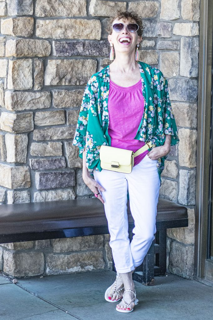 Outfits with a kimono for women over 50