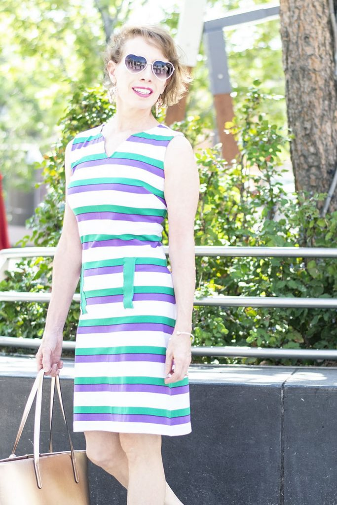 A t-shirt dress for cover up