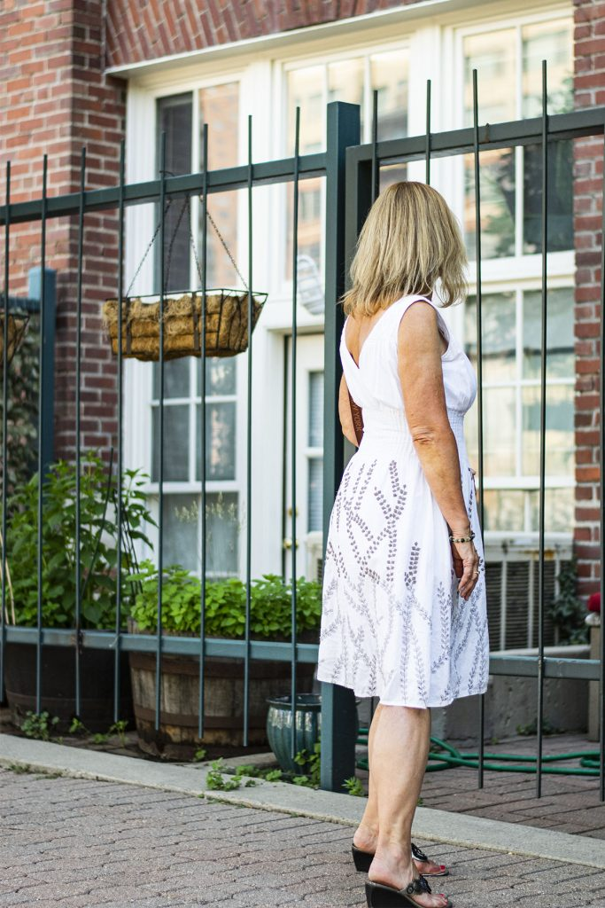 A white dress is how to dress classy in summer