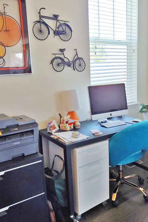 Adding in color when creating a home office space