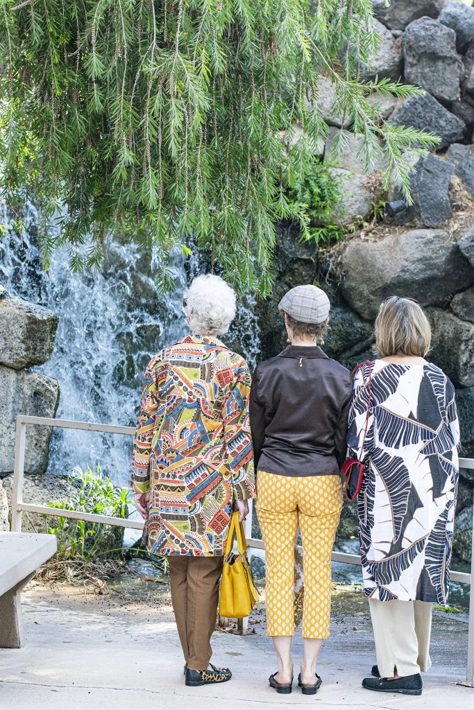 Women over 50 with nature inspired outfits