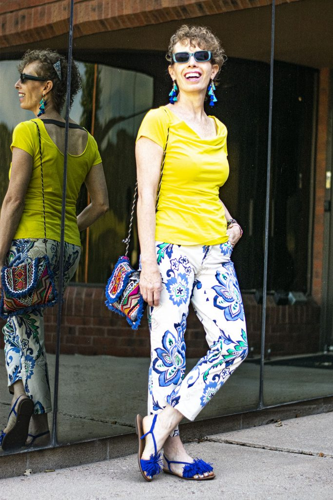 What to wear with printed pants