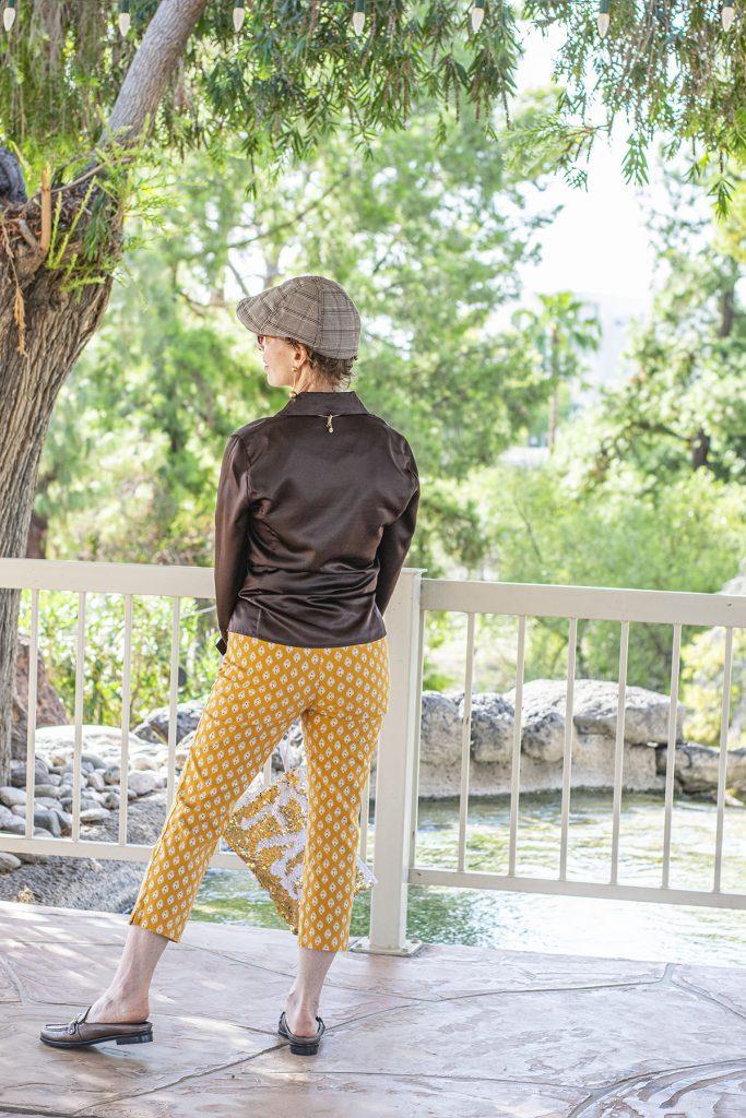 Yellow print pants