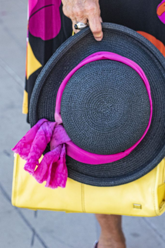 Giving pizzazz to ladies summer dress hats