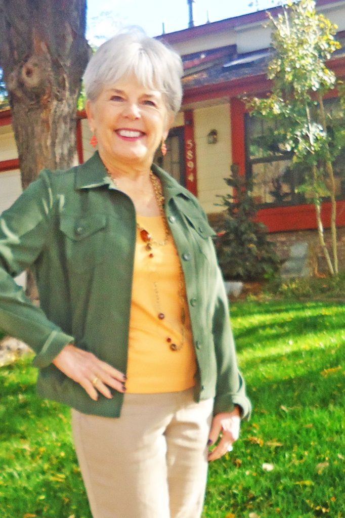Styling nature inspired outfits with olive green and melon