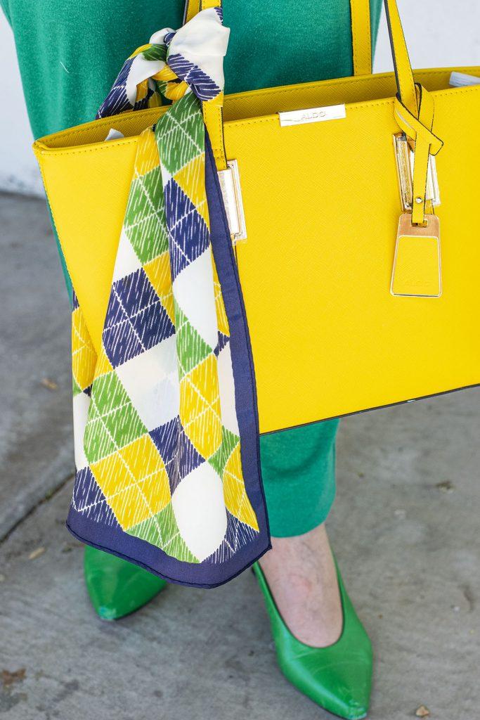 Summer accessory as a handbag scarf