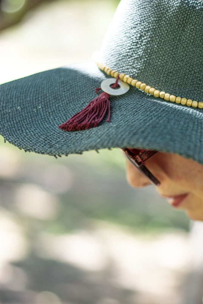 Decorations on a summer hat