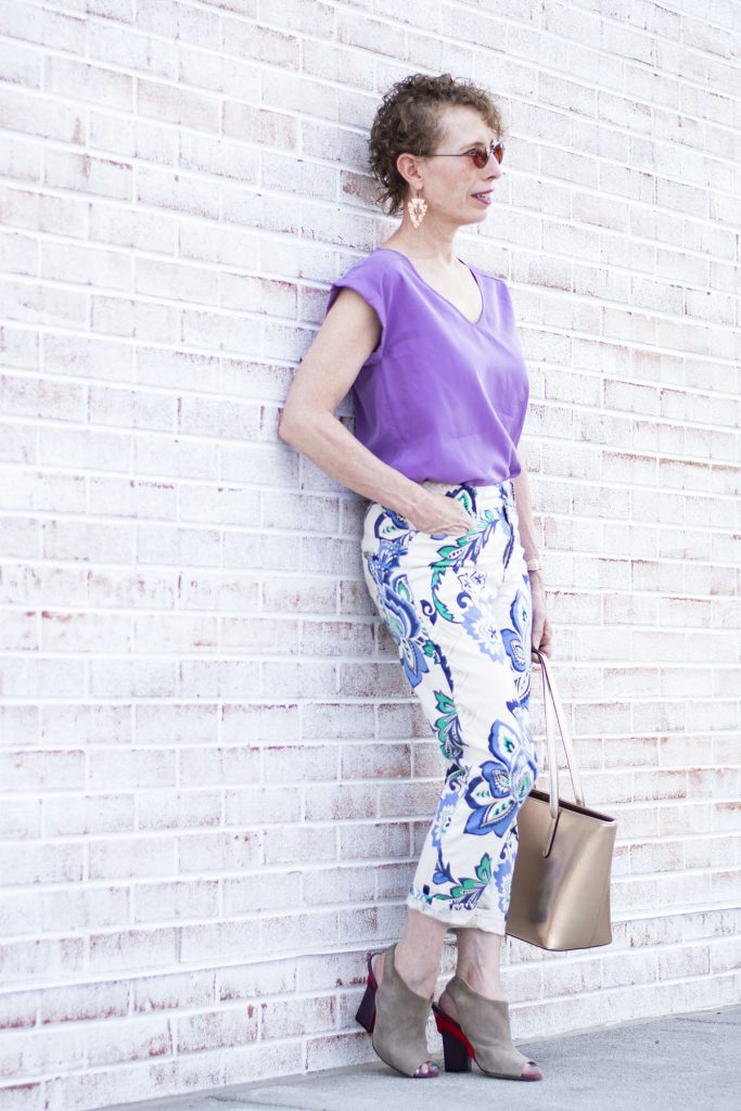 What to wear with printed pants that aren't matchy