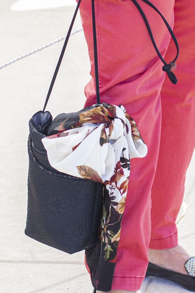 Accessories on a purse