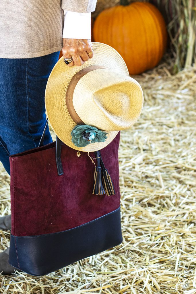 Hat and tote