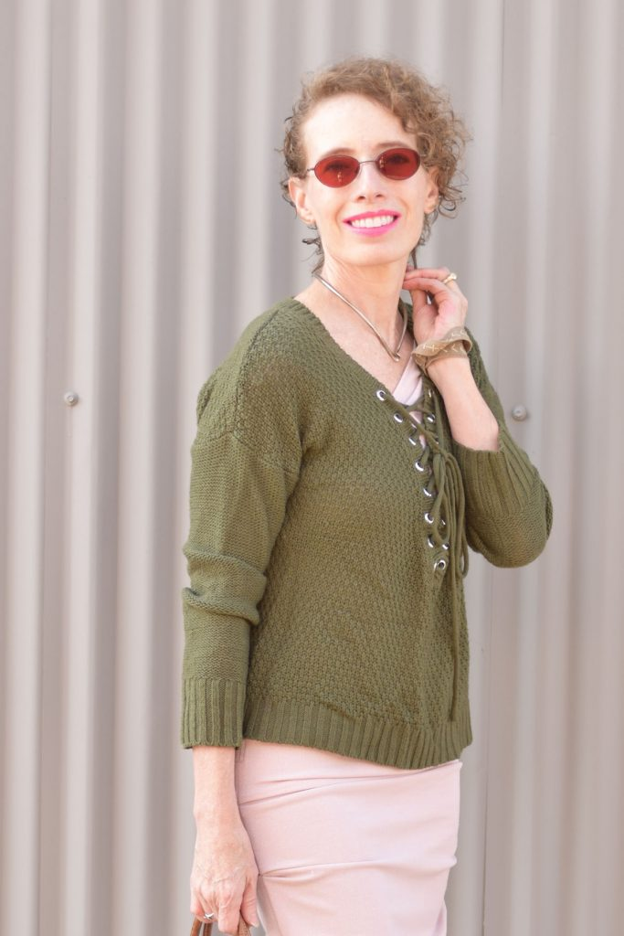 Woman over 50 and how to wear pink in October