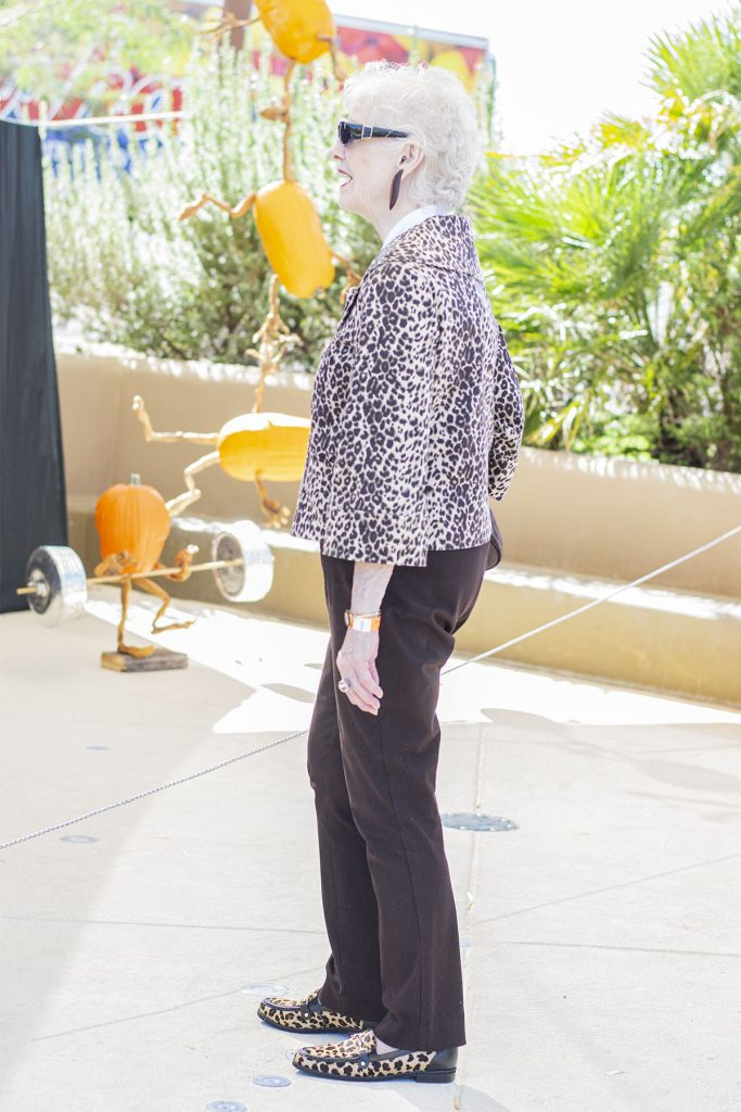 Older woman and what to wear with leopard shoes