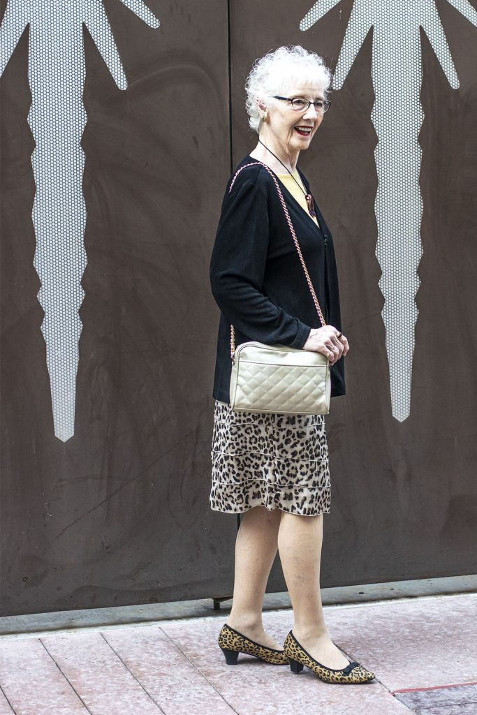 An 80 year old with rules for wearing animal print