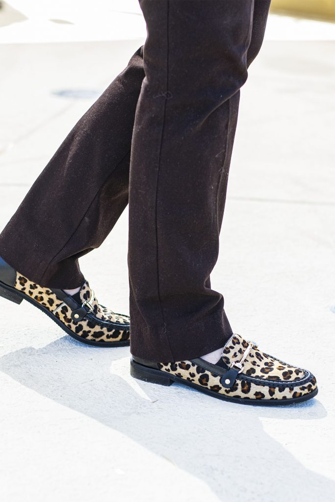 What to wear with leopard shoes for older women
