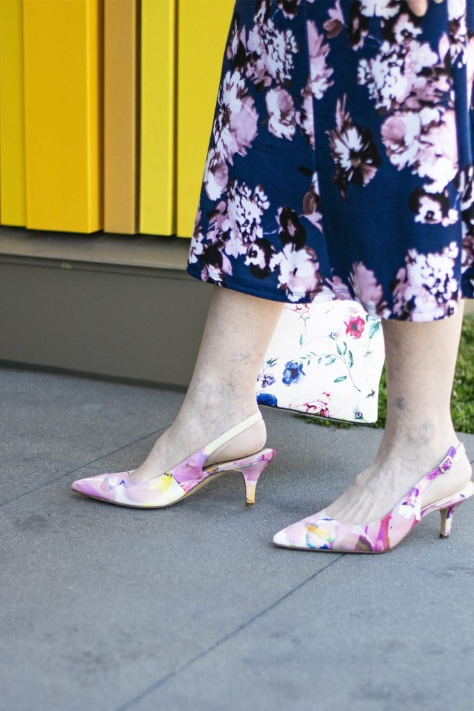 Print mixing with print shoes