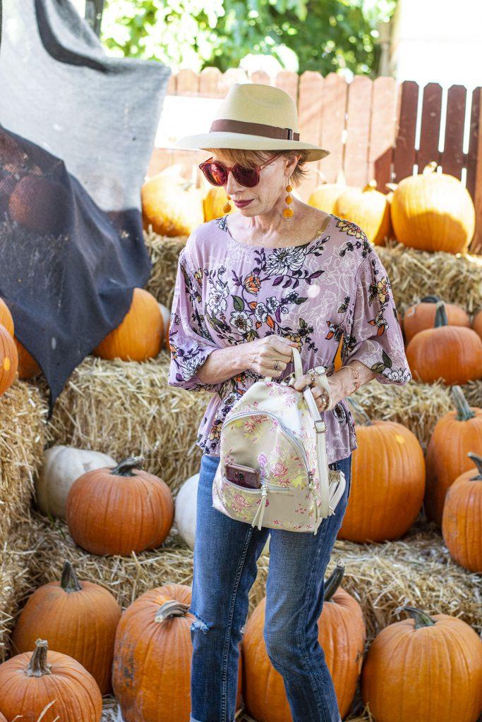 Backpack for the pumpkin festival