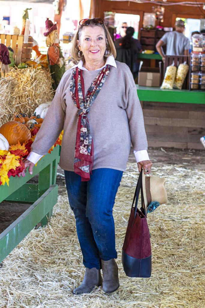 How to style boots with jeans for older women