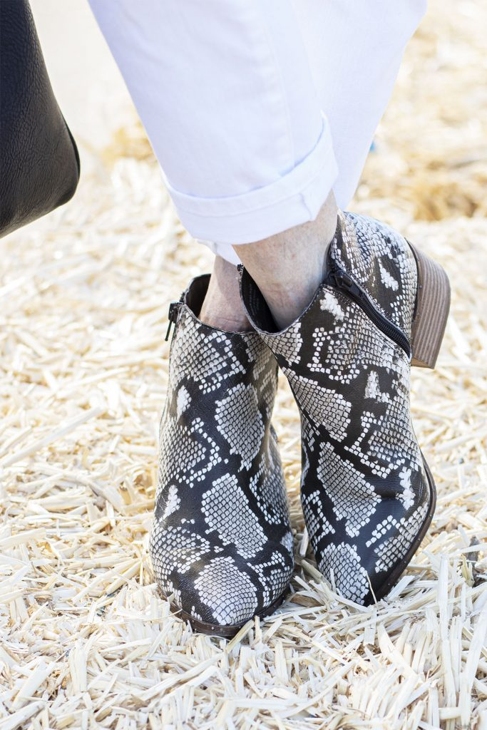 What to wear with snakeskin boots for fall