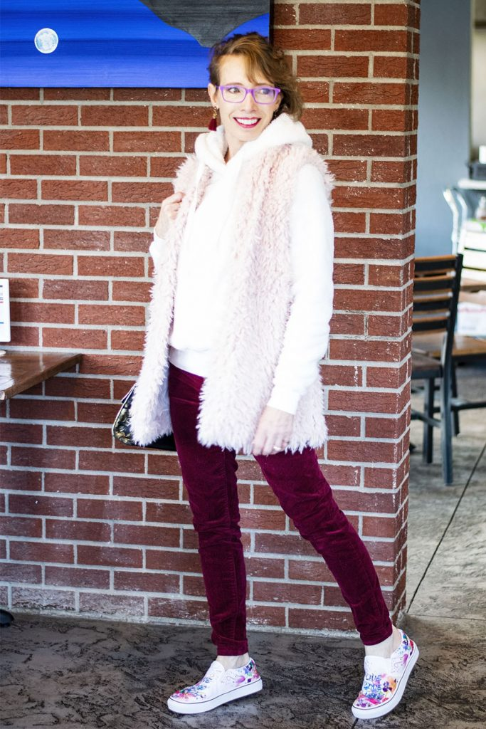 Alterations for shortening velvet pants