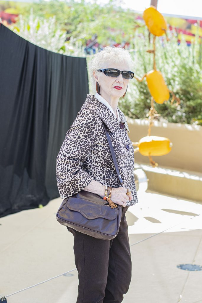 Leopard jacket as what to wear with leopard shoes