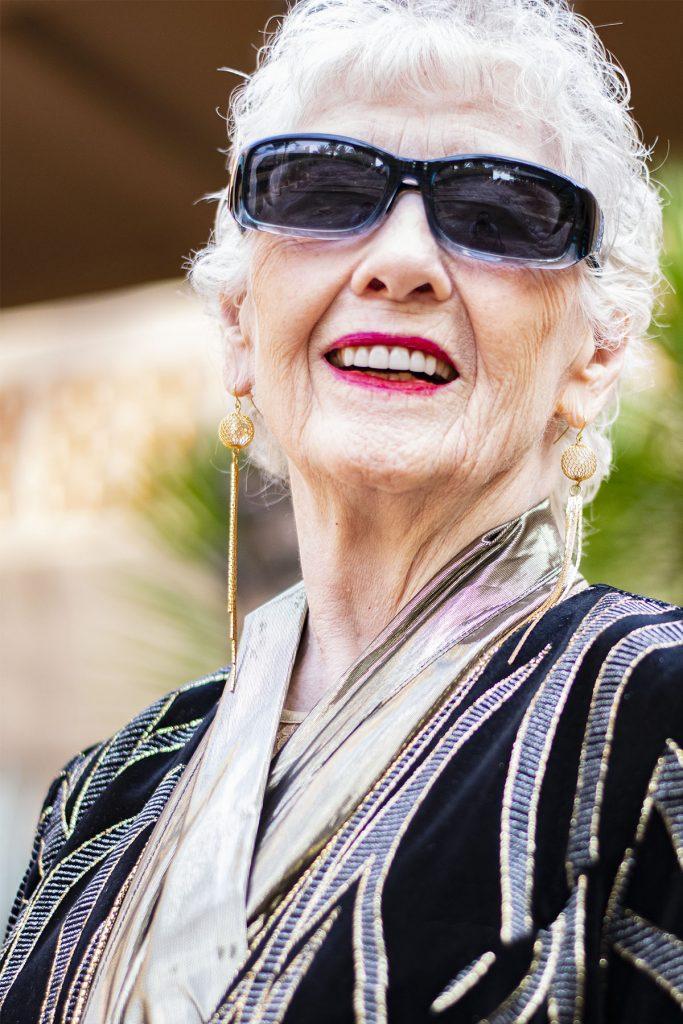 Long earrings for older women