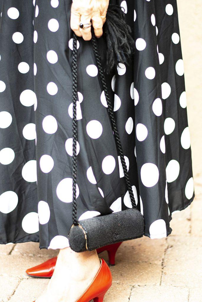Black evening purse