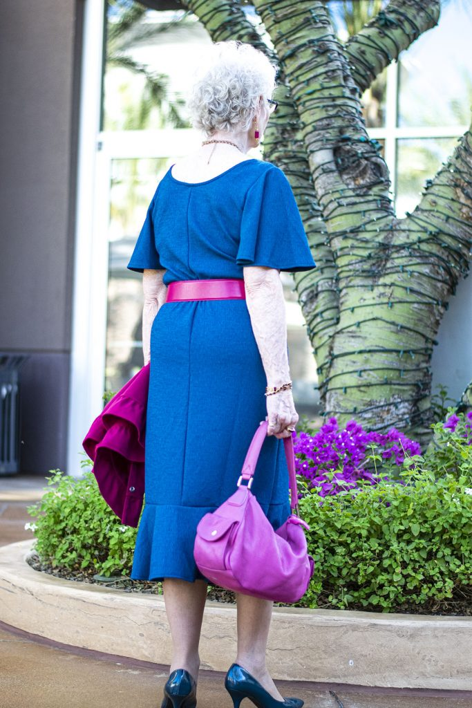 Fall fashion with how to accessorize a blue dress