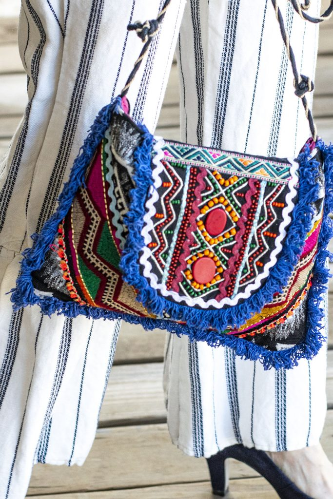 Embroidered purse with my boho style