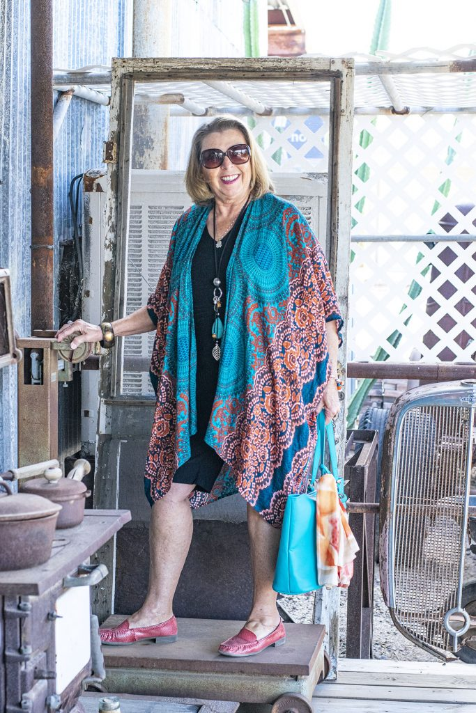 How to wear bohemian style with a kimono