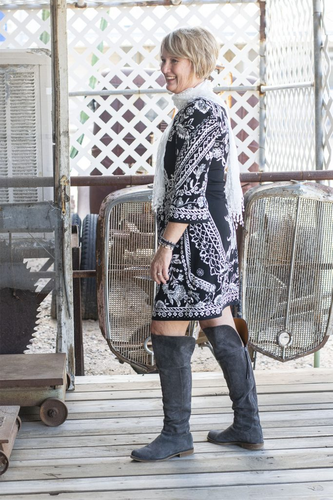 Boots and my boho style dress