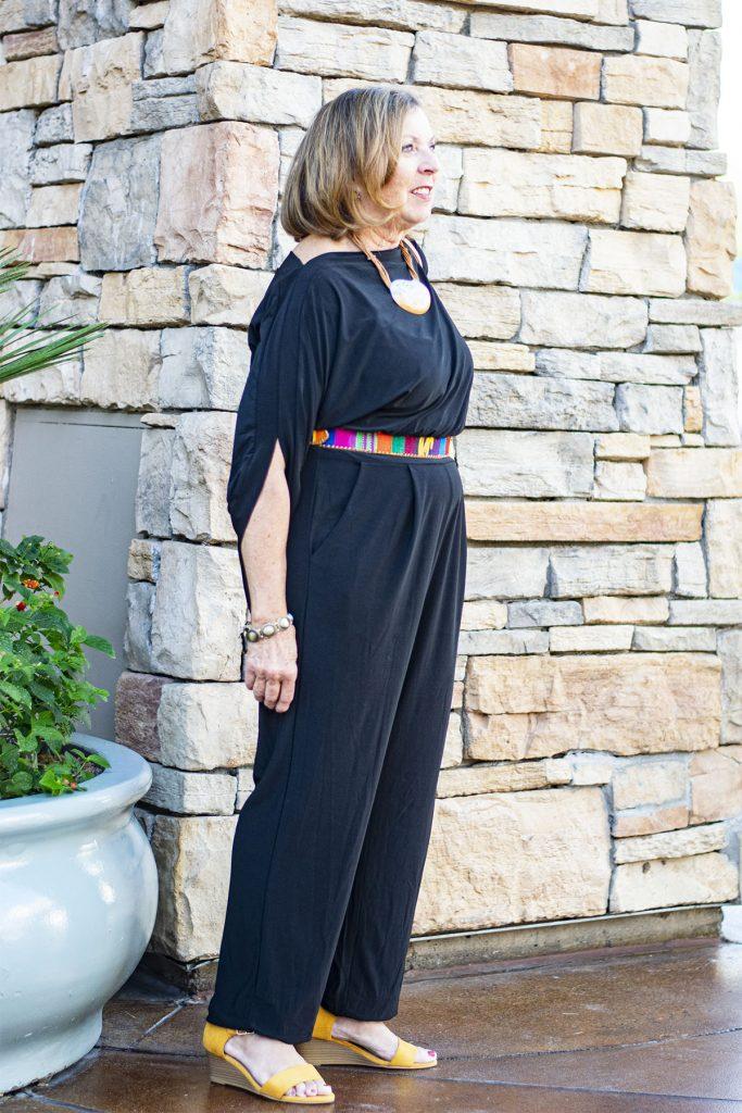 Black jumpsuit for women over 50
