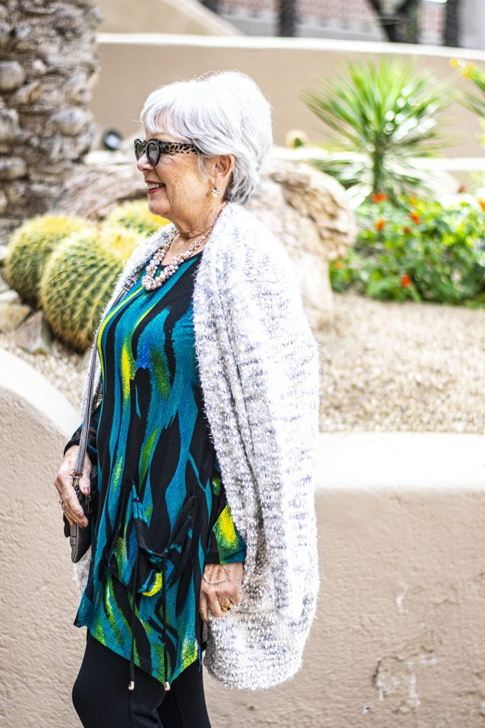 Woman over 60 with what to wear to a birthday lunch