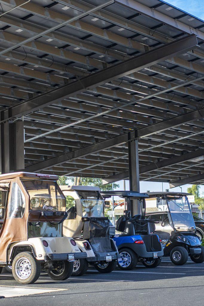 Golf cart parking at Sun City Arizona