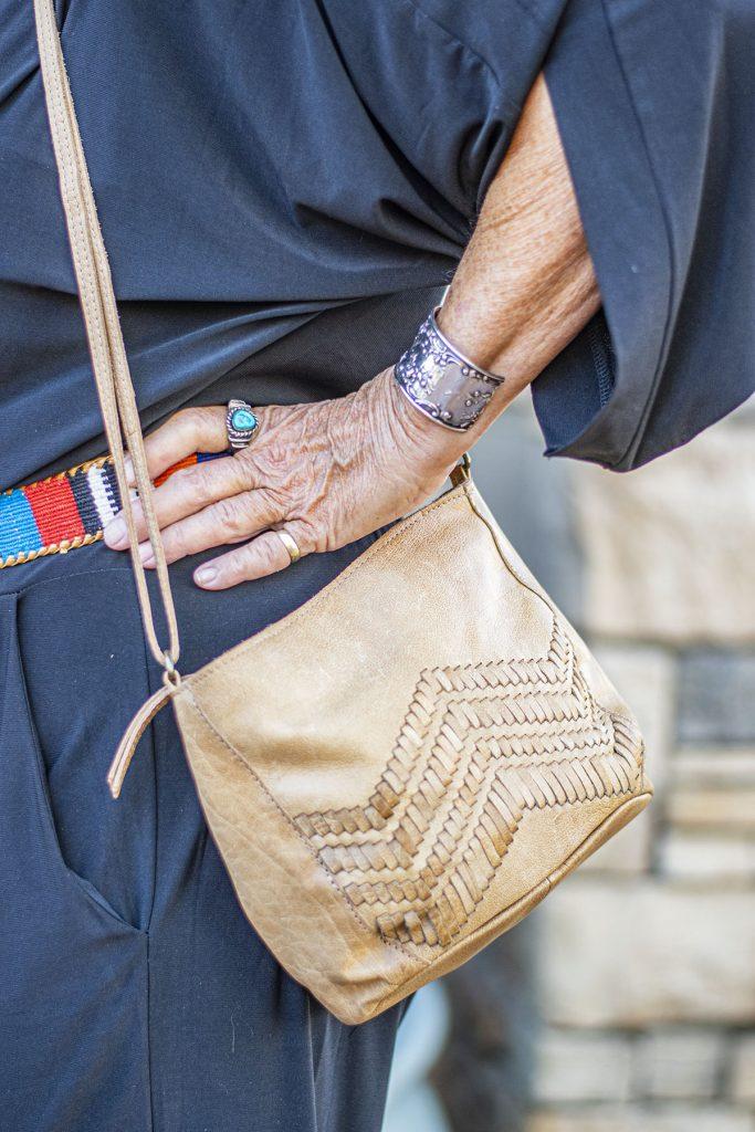 Tan, neutral purse