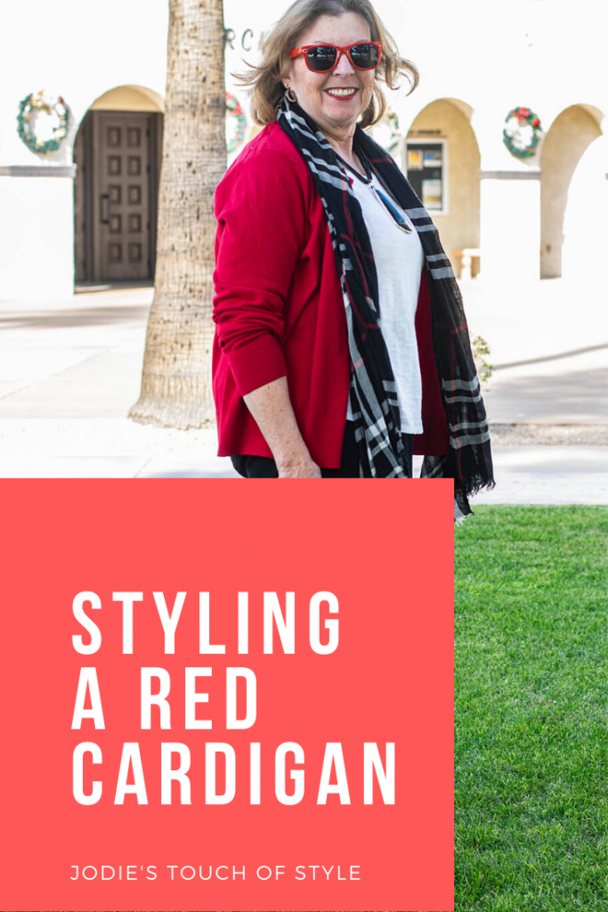 Styling a red cardigan outfit for women