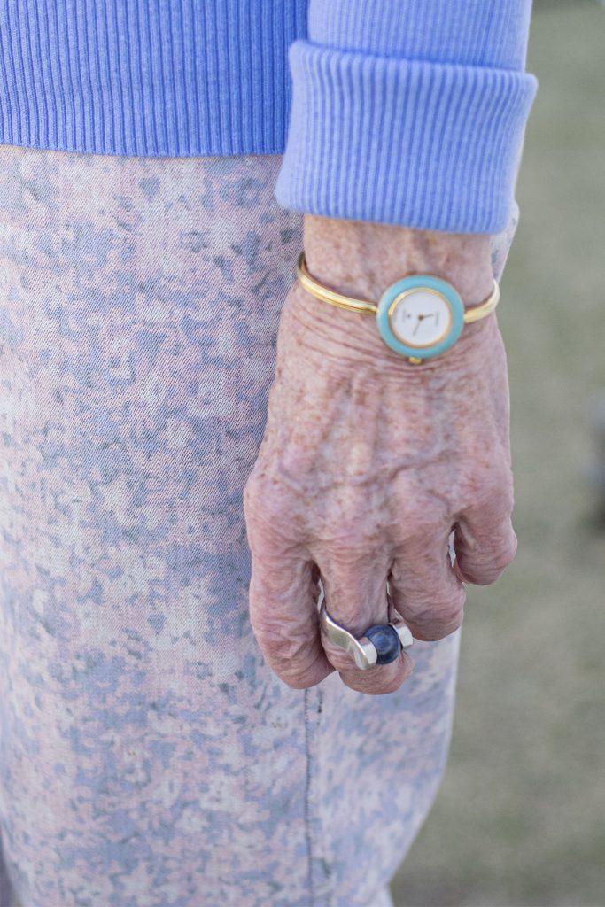 Blue for older women